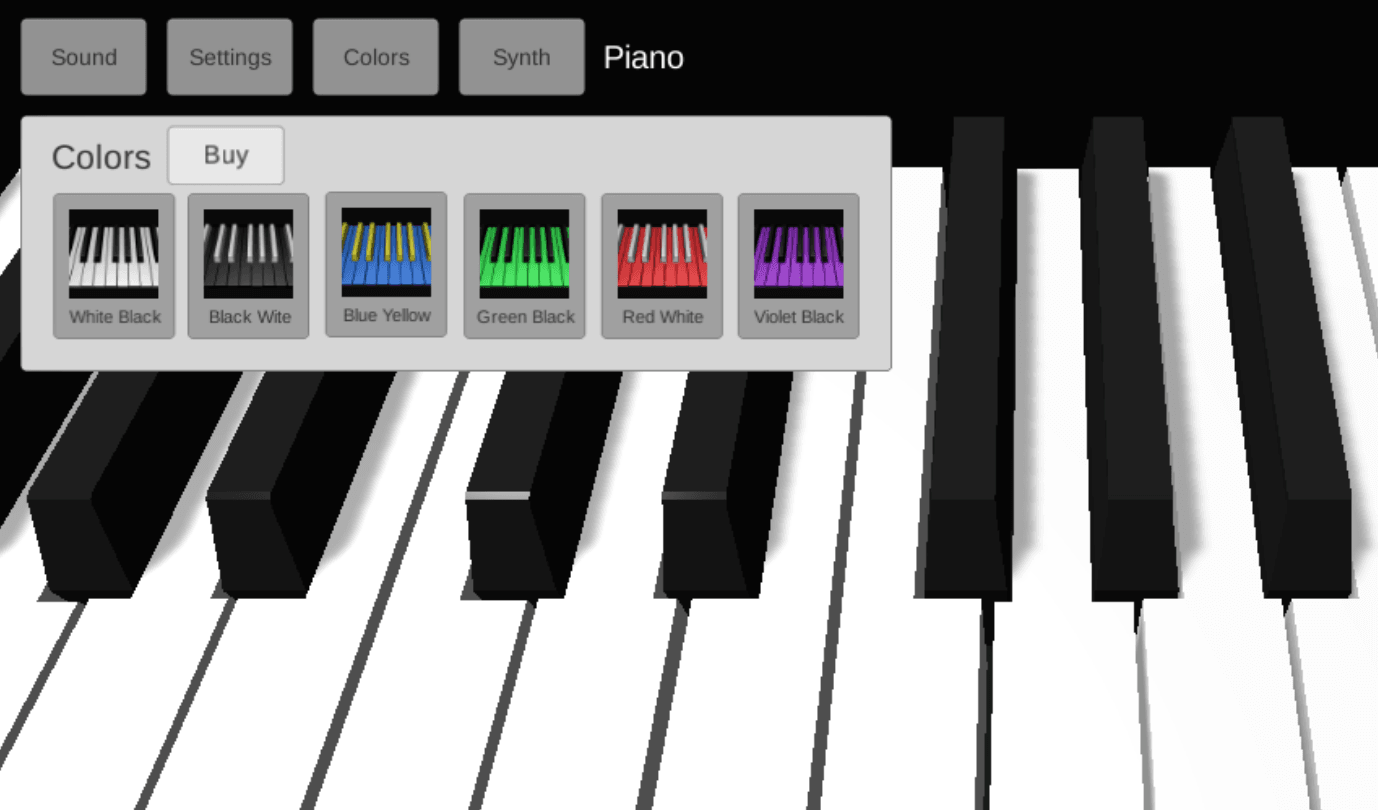 old color selection tab of piano 3d
