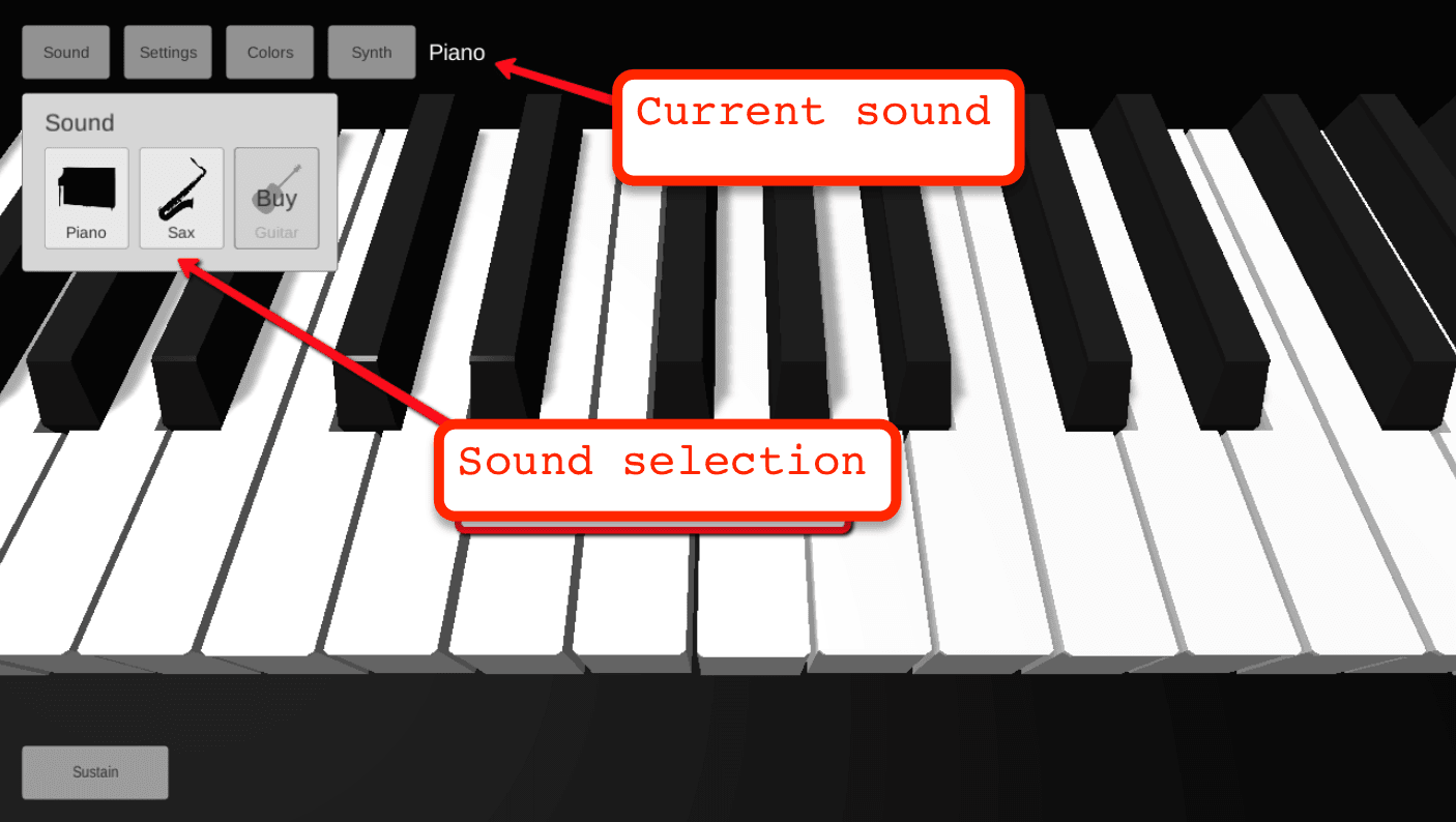 old sound tab of piano 3d